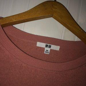Pink UNIQLO long sleeve shirt